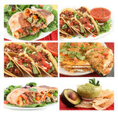 Mexicaans eten collage — Stockfoto