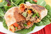 Mexican steak burrito — Stock Photo