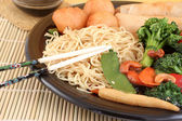 Asian noodles and vegetables — Foto Stock