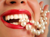 Pearly whites — Foto Stock