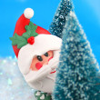 Hiding Santa Claus - Stock Photo