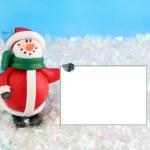 Snowman winter — Stock Photo