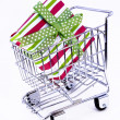 Royalty-Free Stock Photo: Gift box in shopping cart