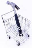 Tools in shopping cart — Stock Photo