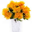 Yellow flowers in vase — Stock Photo