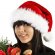 Teen flicka santa — Stockfoto #1336291