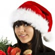 Teen flicka santa — Stockfoto