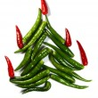 Royalty-Free Stock Photo: Chili New Year Tree
