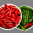 Red and Green Spicy chili pepper in the - Stock Photo