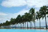 Swimming pool right near the sea. — Stock Photo