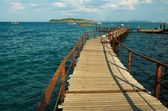 Old wooden pier. — Stock Photo