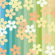 Royalty-Free Stock Vector Image: Flowers and stripes