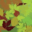 Repeating leaf background — Imagens vectoriais em stock