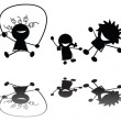 Vector de stock : Jumping children