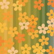 Seamless flowers and stripes background — Stock Vector