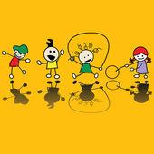 Niños jugando — Vector de stock
