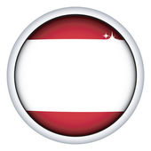 Austrian flag button — Stock Vector