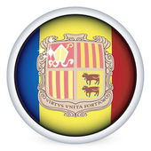 Andorra flag button — Stock Vector