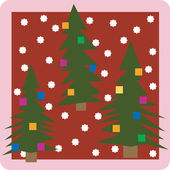 Christmass trees icon — Stock Vector
