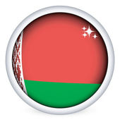 Belarus flag button — Stock Vector