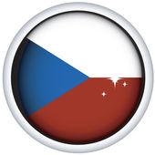 Czech flag button — Stock Vector