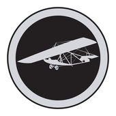 Emblem of an vintage glider — Stock Vector