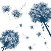 Vector dandelion — Stock Vector