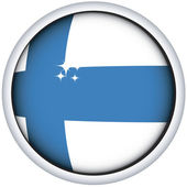 Finnish flag button — Stock Vector