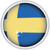 Swedish flag button — Stock Vector