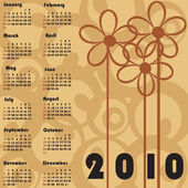 Retro calendar for 2010 — Vetorial Stock