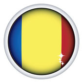 Romanian flag button — Vettoriale Stock