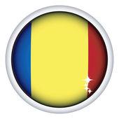 Rumunská vlajka tlačítko — Stock vektor