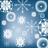 Snow flakes background — Stock Vector