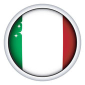 Italian flag button — Stock Vector