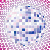 Velvet discoball — Stock Vector