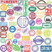 Vector stamps — Stock Vector