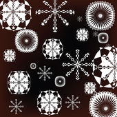 White snowflakes — Stock Vector