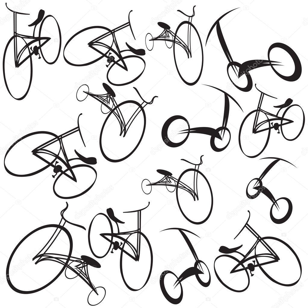双人自行车复古婚礼