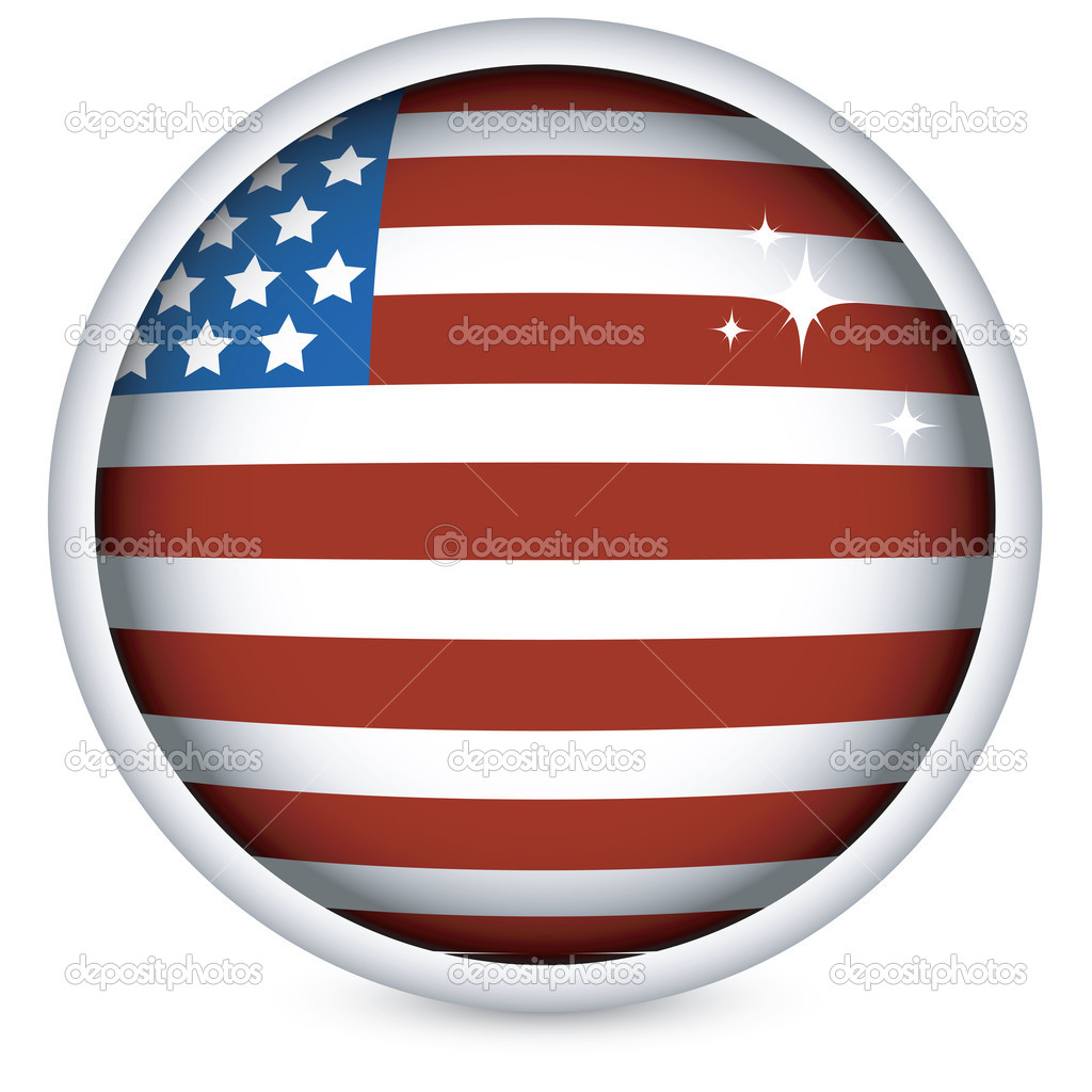Sphere USA flag button — Stock Vector #1233625