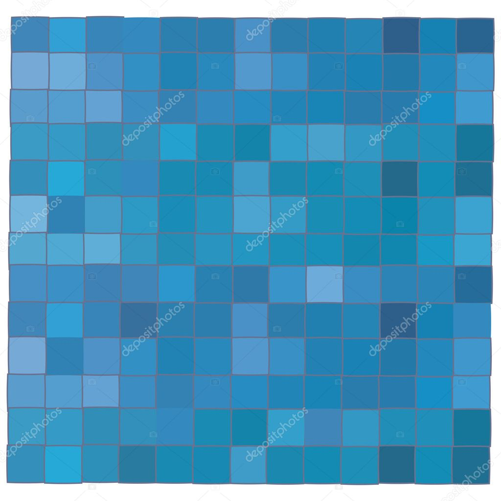 Blue mosaic background illustration, vector art — Stock Vector #1234436