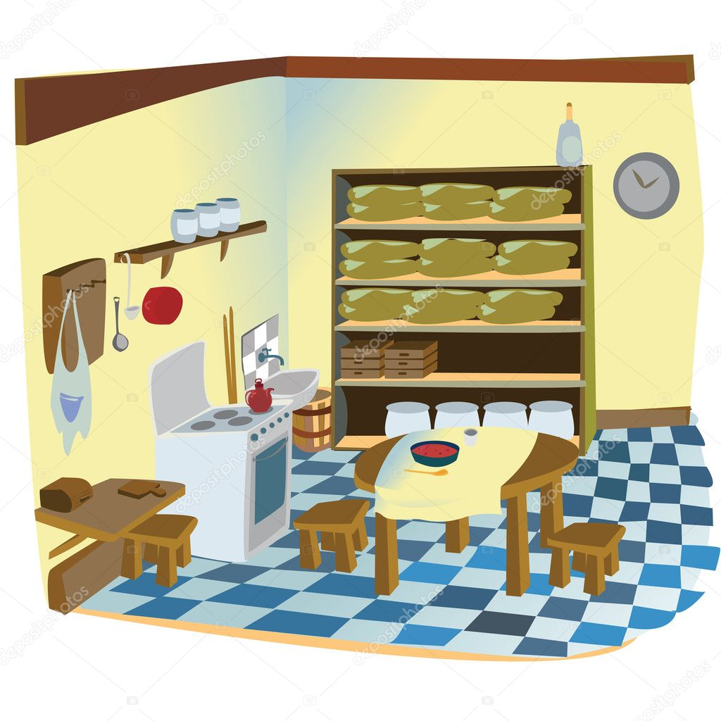 Cartoon kitchen table - Kitchen Cartoon Background Jpg 1024x1024 Dining Room Scene Cartoon