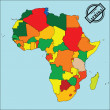 Map of africa — Stockfoto