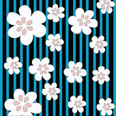 Stripes and flowers — Stock Photo