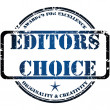 Vector de stock : Editors choice