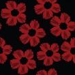 patrón floral rojo — Vector de stock