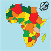 Map of africa — Vettoriale Stock