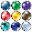 Glossy web buttons — Stock Photo