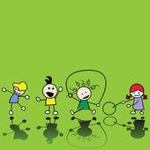 παιδιά που παίζουν — Φωτογραφία Αρχείου