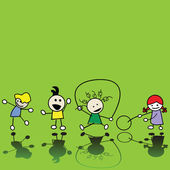 Spelende kinderen — Stockfoto