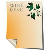 Wine list — Stock Photo